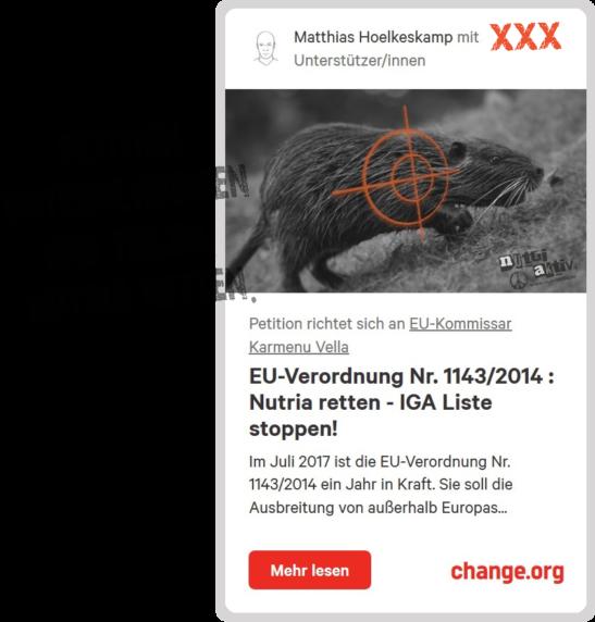 Petition an EU Kommissar karmenu Vella zur Rettung der Nutria_unterschreiben_bild_carabito_matthias_hoelkeskamp